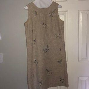 Talbots floral linen dress